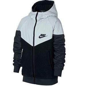 Nike Windrunner Sherpa Jacket Kids Boys Large